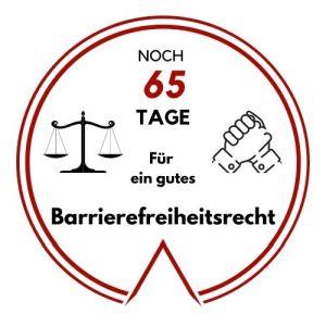 Logo: Noch 65 Tage für ein gutes Barrierefreiheitsrecht