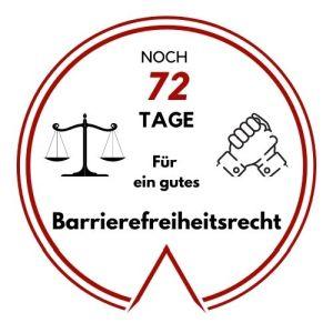 Logo: Noch 72 Tage für ein gutes Barrierefreiheitsrecht
