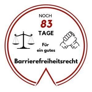 Logo: Noch 83 Tage für ein gutes Barrierefreiheitsrecht