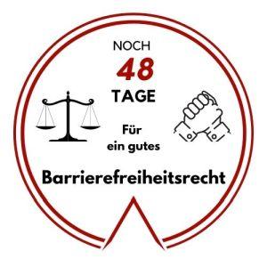 Logo: Noch 48 Tage für ein gutes Barrierefreiheitsrecht