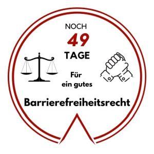 Logo: Noch 49Tage für ein gutes Barrierefreiheitsrecht