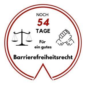 Logo: Noch 54 Tage für ein gutes Barrierefreiheitsrecht